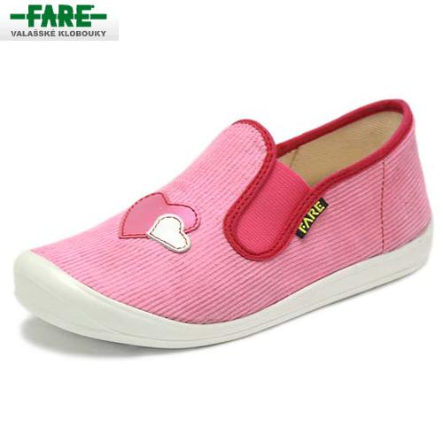 ac9e2ef325d FARE bačkory dětská domácí obuv růžová vel. 35