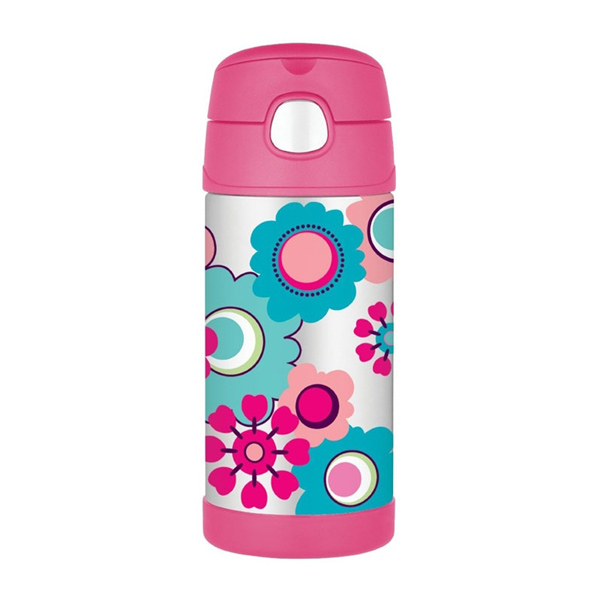 Thermos FUNtainer 355ml termoska s brčkem Květy