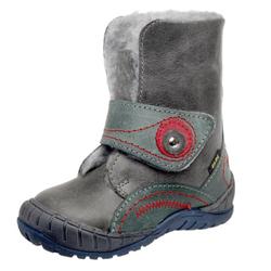 FARE kožené zimní kotníčkové boty šedé 2143131