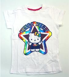 Hello Kitty bílé tričko s krátkým rukávem