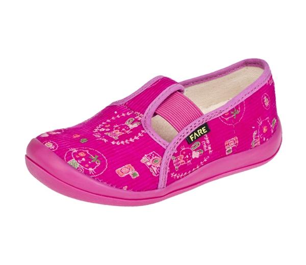 196cbcb97c7 FARE bačkory dětská domácí obuv růžová vel. 25