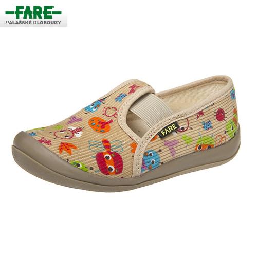 FARE dětská obuv domácí béžová