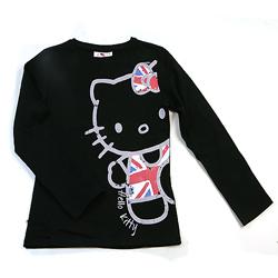 Hello Kitty černé tričko s dlouhým rukávem