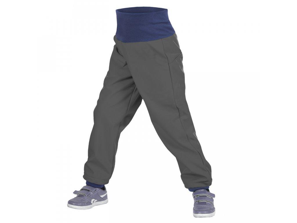 Unuo dětské softshellové kalhoty antracit