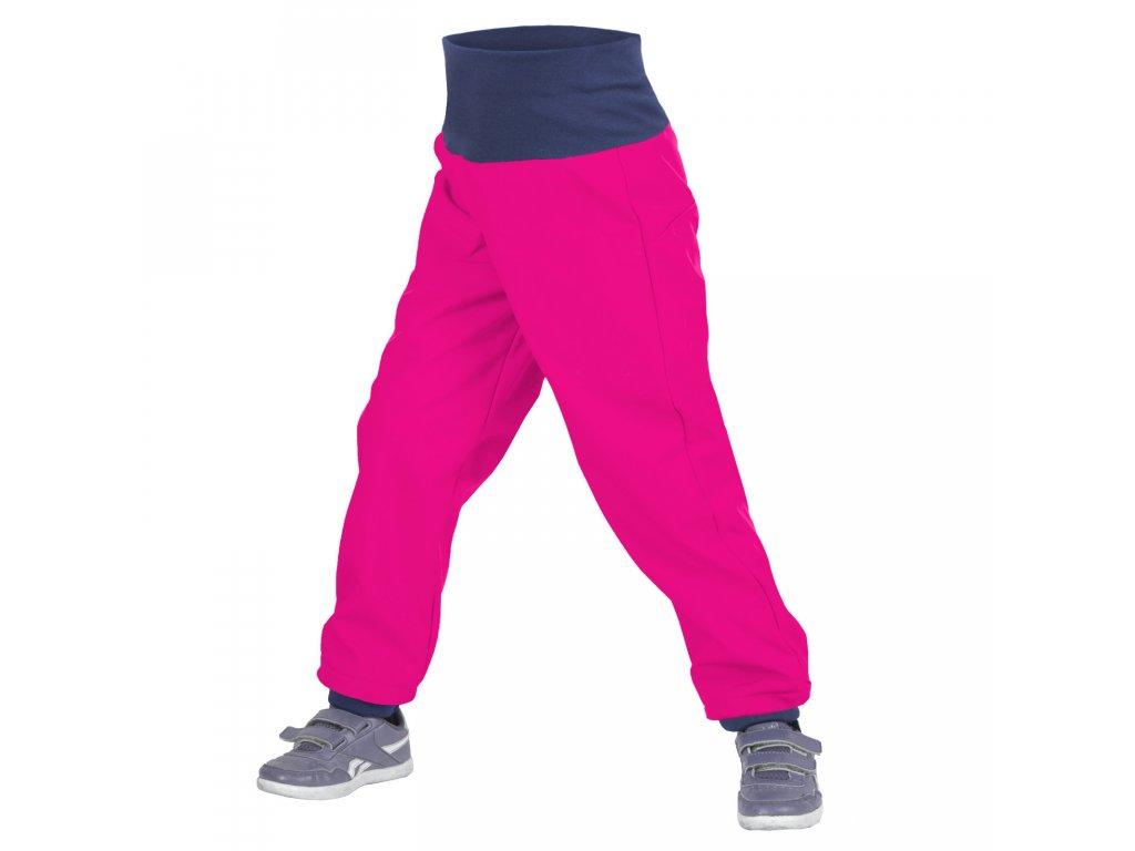 Unuo dětské softshellové kalhoty fuchsiové