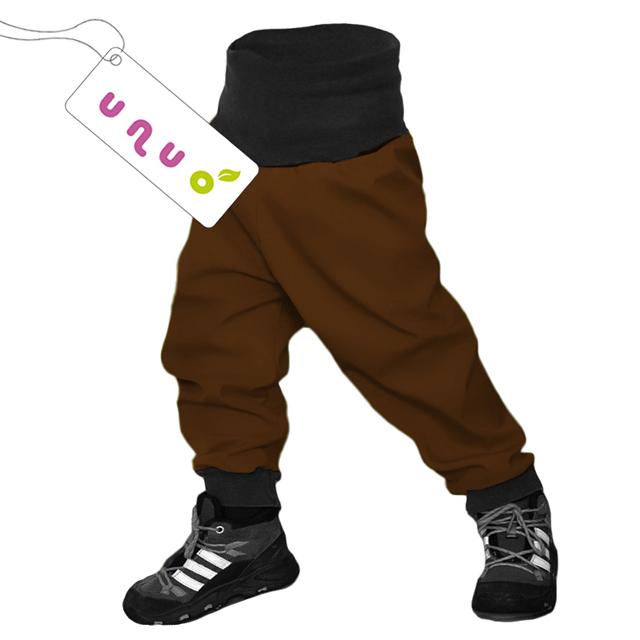 Unuo dětské softshellové kalhoty hnědé