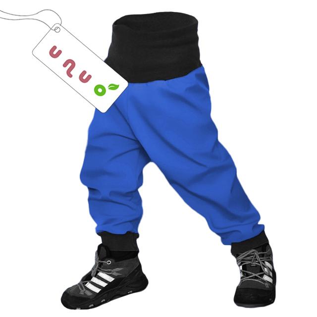 Unuo dětské softshellové kalhoty tmavě modré