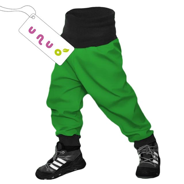 Unuo dětské softshellové kalhoty zelené