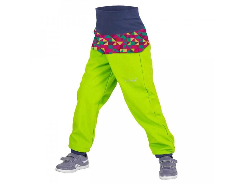 Unuo softshellové kalhoty Triangl limetka dívčí