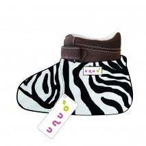 Unuo dětské návleky na botičky Zebra vel. M