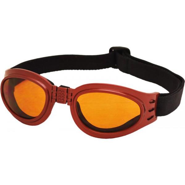 TT-BLADE FOLD zimní skládací brýle, metal. červená