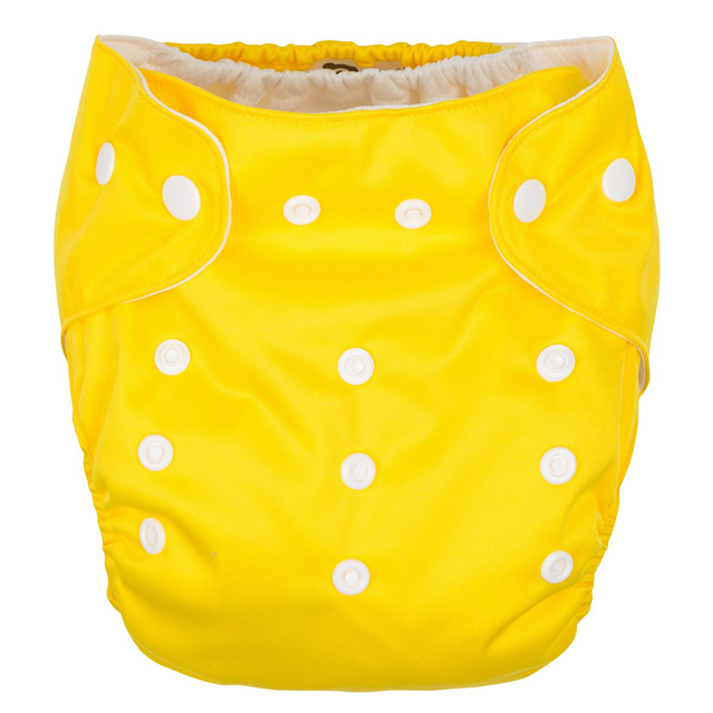 GMINI Plenkové kalhotky žluté Uni