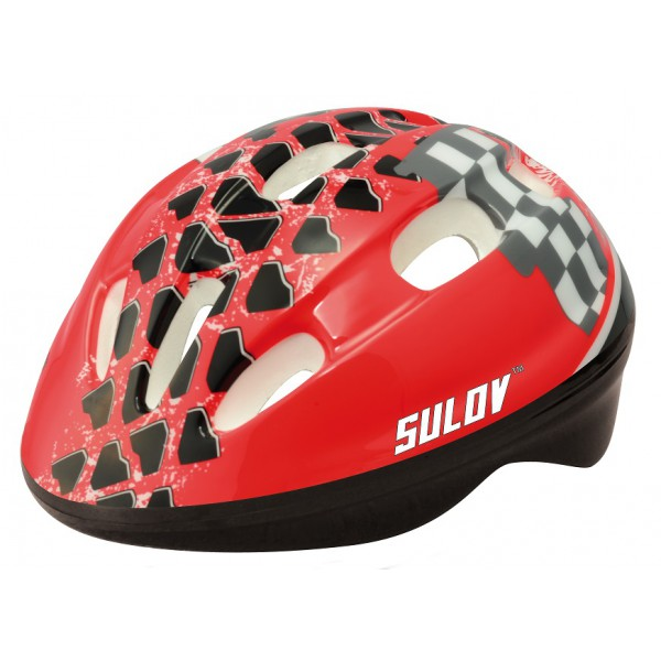 Dětská cyklo helma SULOV JUNIOR vel. M, červená