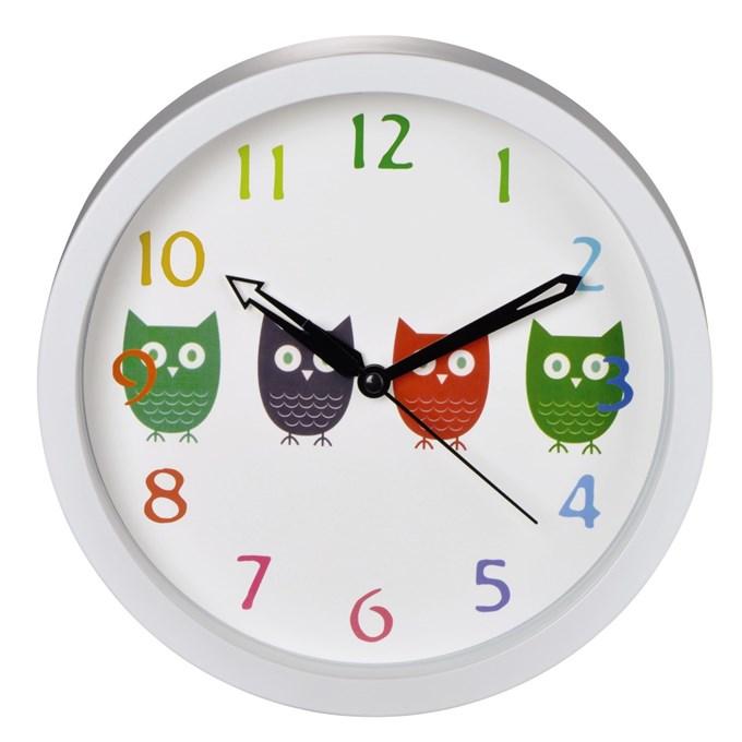 Dětské nástěnné hodiny Sovičky tichý chod