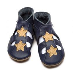 Kožené capáčky Inch Blue Star Sandal 0-6 m/10,5 cm