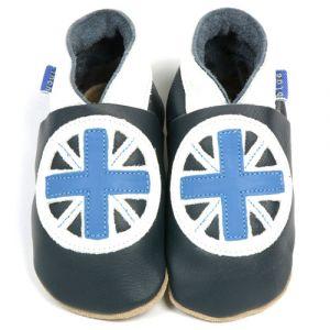 Kožené capáčky Inch Blue Britannia 0-6 m/10,5 cm