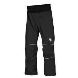 Kukadloo dětské softshellové kalhoty černo-reflexn