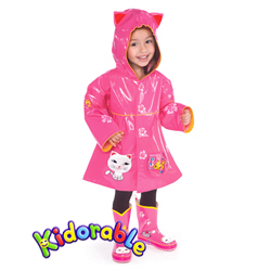 Kidorable dětská pláštěnka Kočička+ramínko zdarma