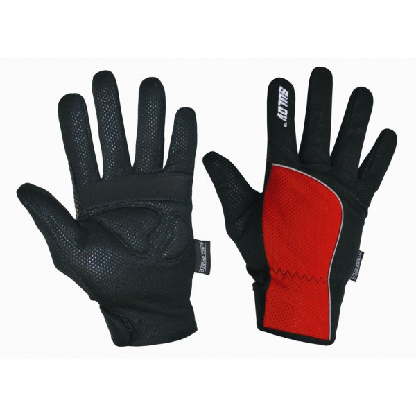 SULOV zimní rukavice pro běžky i cyklo, červené/L