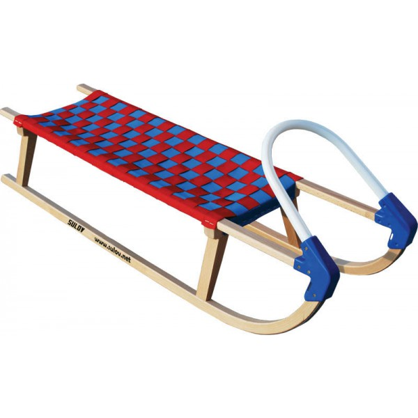 Dřevěné saně SULOV LAVINA, 110 cm, plastové madlo