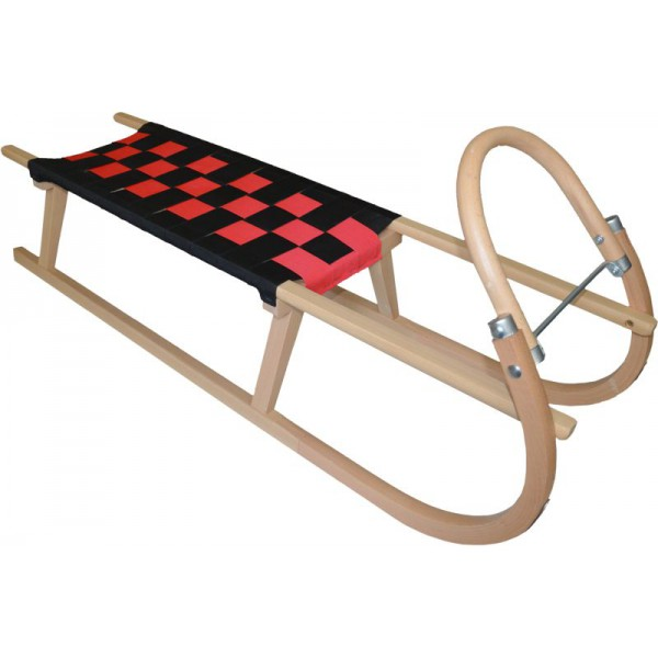 Dřevěné saně SULOV TATRA, 105 cm, černo-červené