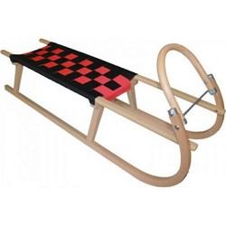 Dřevěné saně SULOV TATRA, 120 cm, černo-červené