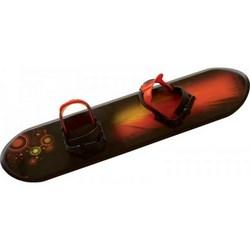 Dětský plastový snowboard, černý