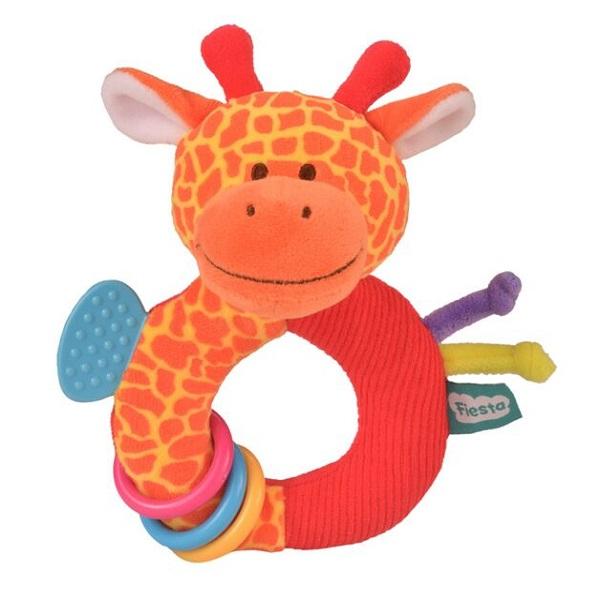 Fiesta Crafts - Chrastítko s kousátkem - Žirafa