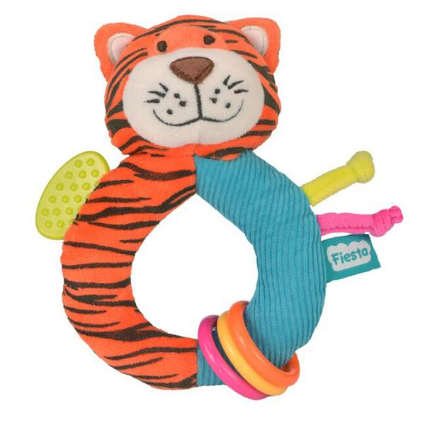 Fiesta Crafts - Chrastítko s kousátkem - Tygr
